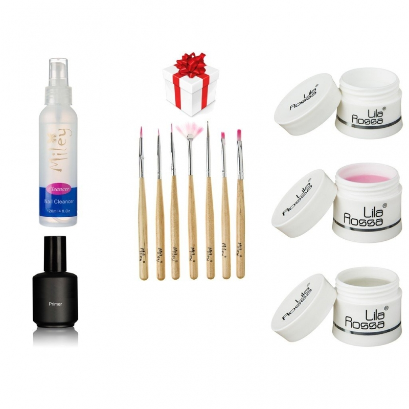 Kit unghii false cu gel uv Soak Off Lila Rossa