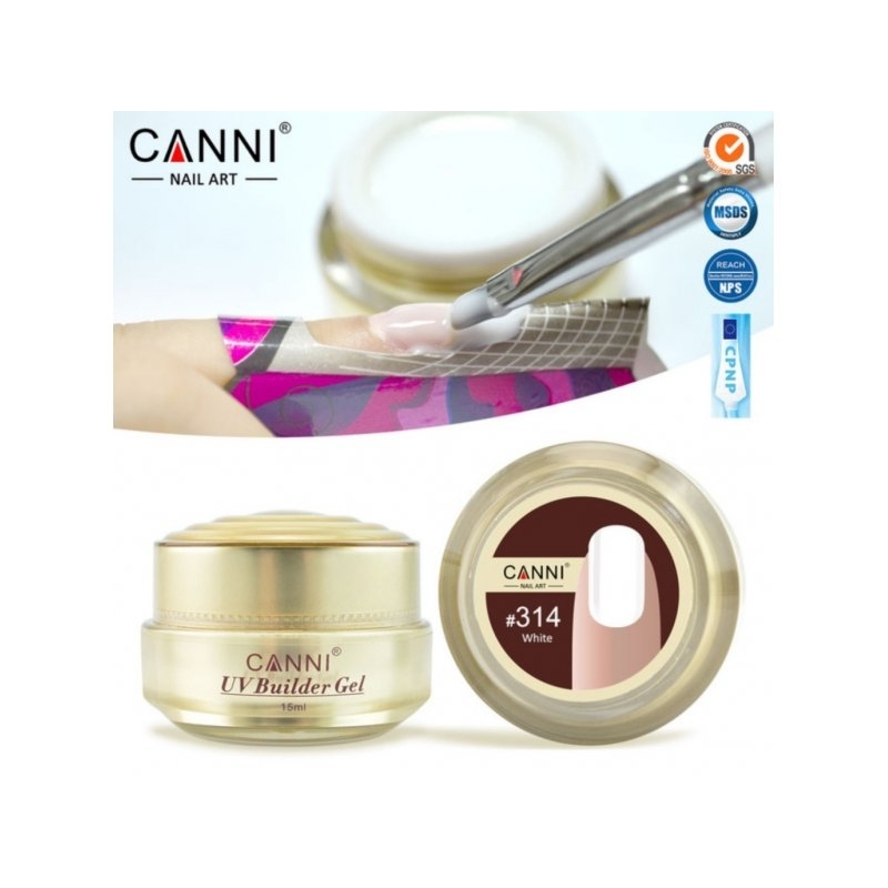Gel UV de Constructie CANNI 15G white 314