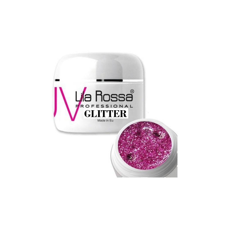 Gel uv color Lila Rossa GLITTER 5 g E24-03
