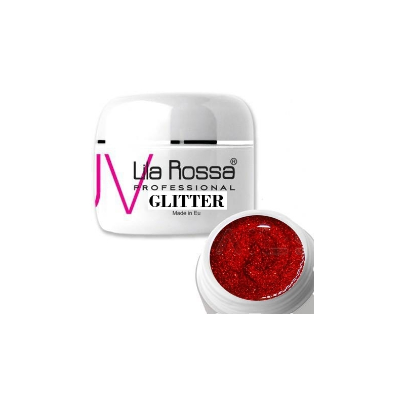 Gel uv color Lila Rossa GLITTER 5 g E24-04