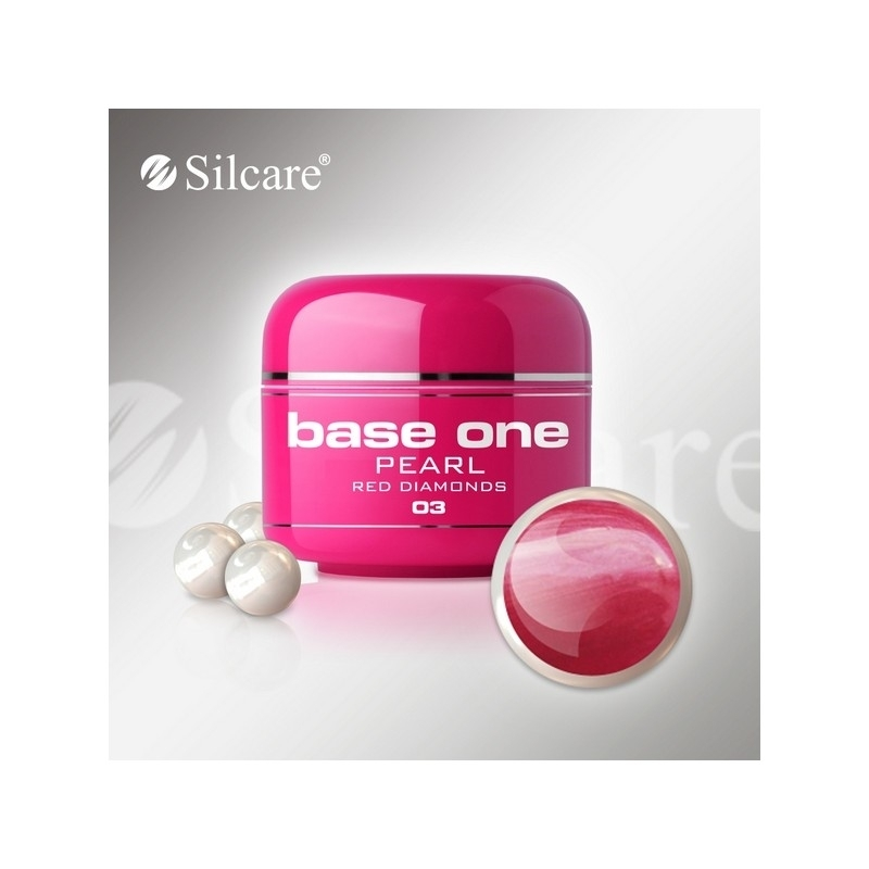 Gel UV Color Base One 5 g Pearl red-diamonds-03