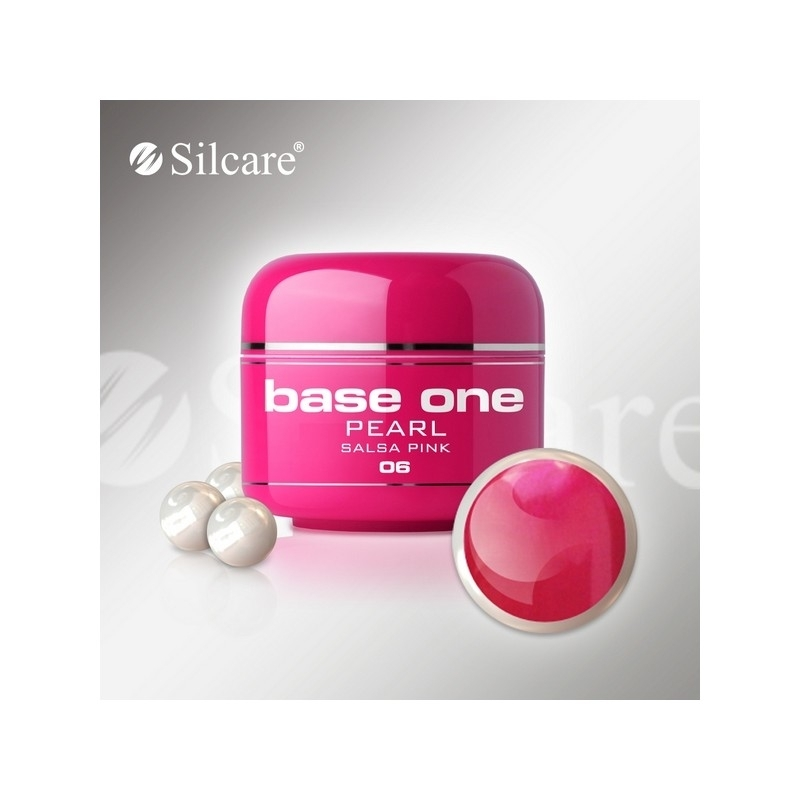 Gel UV Color Base One 5 g Pearl salsa-pink-06
