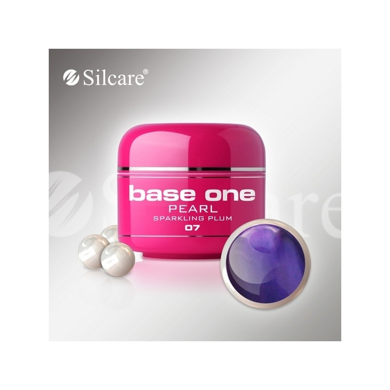 Gel UV Color Base One 5 g Pearl sparkling-plum-07