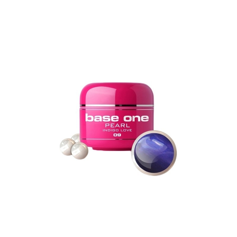 Gel UV Color Base One 5 g Pearl indigo-love-09