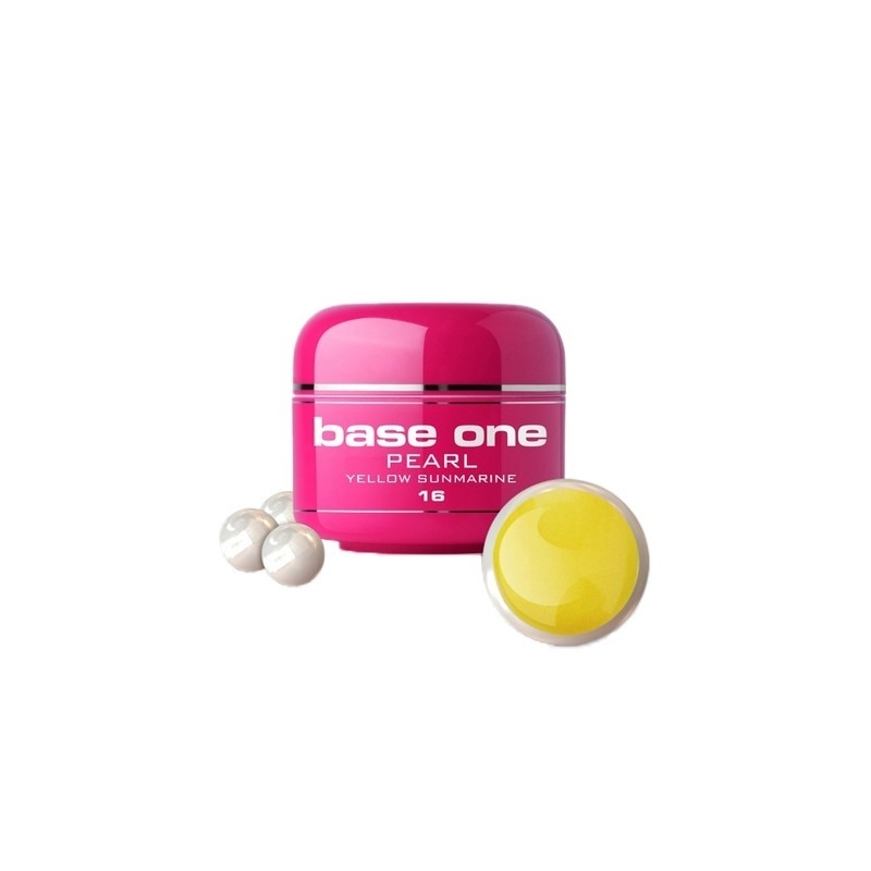 Gel UV Color Base One 5 g Pearl yellow-sunmarine-16