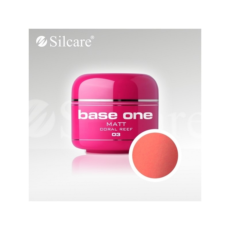 Gel UV Color Base One 5 g Matt coral-reef-03