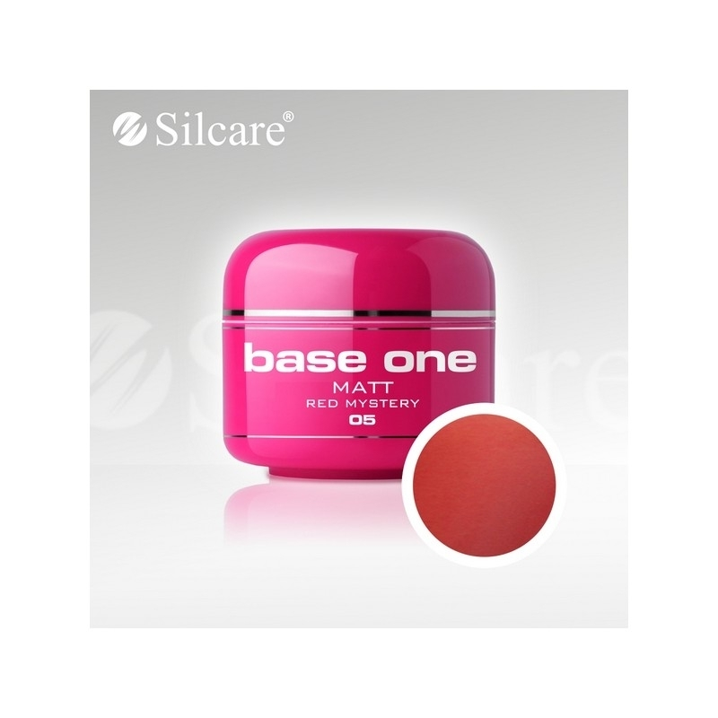 Gel UV Color Base One 5 g Matt red-mystery-05