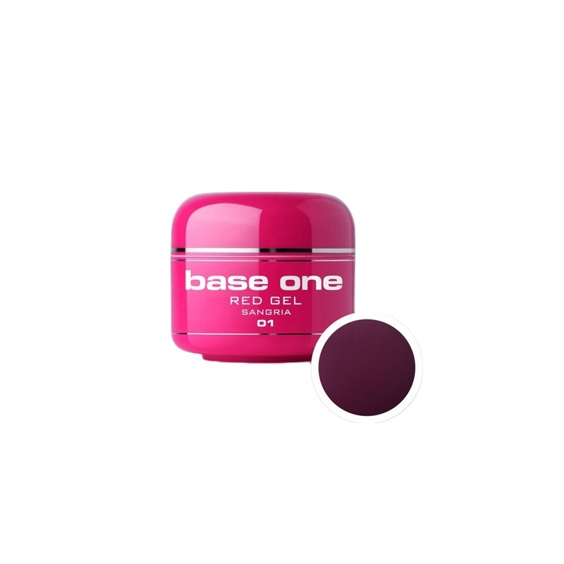 Gel UV Color Base One 5 g Red  sangria-01