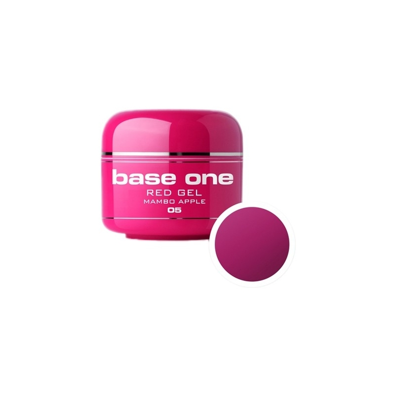 Gel UV Color Base One 5 g Red mambo-apple-05