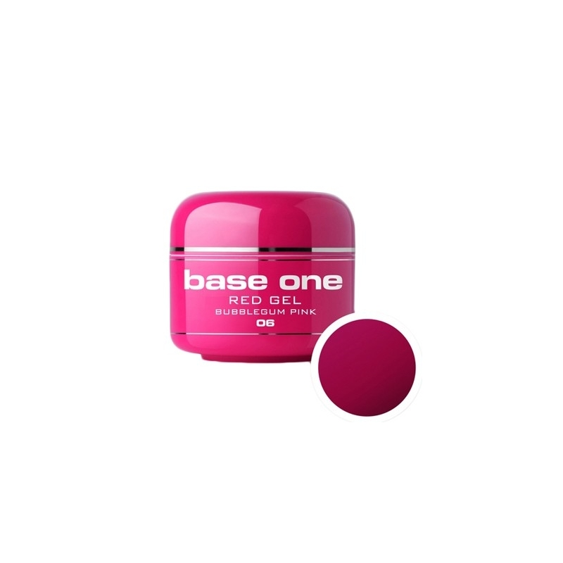 Gel UV Color Base One 5 g Red bubblegum-pink-06
