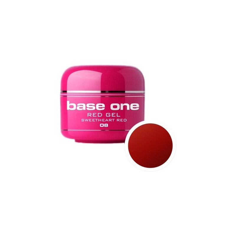 Gel UV Color Base One 5 g Red sweetheart-red-08