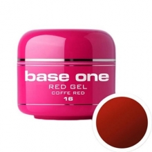 Gel UV Color Base One 5 g Red one-coffe-red-16