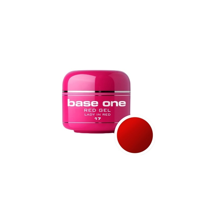 Gel UV Color Base One 5 g Red lady-in-red-17