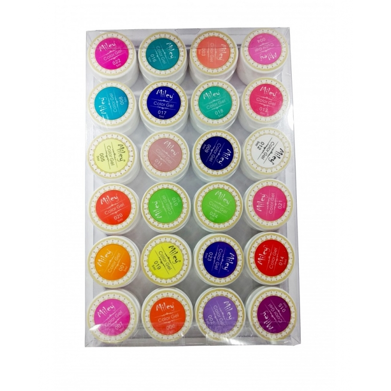 Gel color Miley set 24 NEON