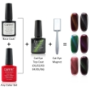 Oja Top Coat Soak-off Lila Rossa Cameleon Cat Eye Purple