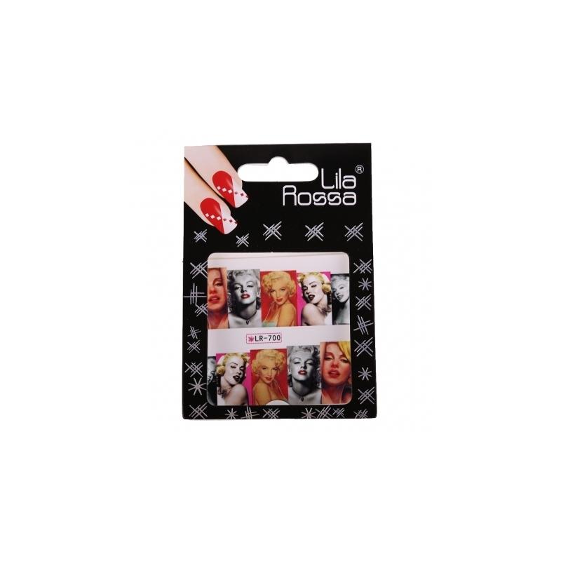 Sticker Unghii cu Efect 3D Lila Rossa Marilyn Monroe