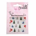 Sticker Unghii 3D Lila Rossa Bisericute