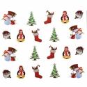 Sticker Unghii 3D Lila Rossa Pinguini
