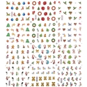 Sticker Unghii 12 In 1 Lila Rossa Ornamente de Craciun