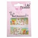 Sticker Unghii 3D Lila Rossa Ornamente Craciun
