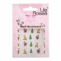Sticker Unghii 3D Lila Rossa Reni