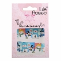 Sticker Unghii 3D Lila Rossa Oameni de Zapada cu Joben