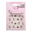 Sticker Unghii 3D Lila Rossa Lumanari