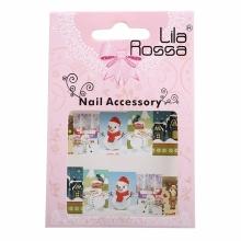 Sticker Unghii 3D Lila Rossa Privelisti de Iarna