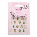 Sticker Unghii 3D Lila Rossa Oameni de Zapada