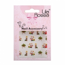 Sticker Unghii 3D Lila Rossa Mos Craciun