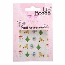 Sticker Unghii 3D Lila Rossa Braduti
