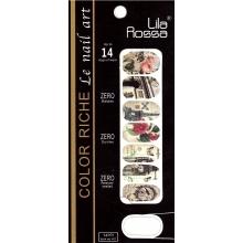Sticker Unghii 14 In 1 Lila Rossa Lr014