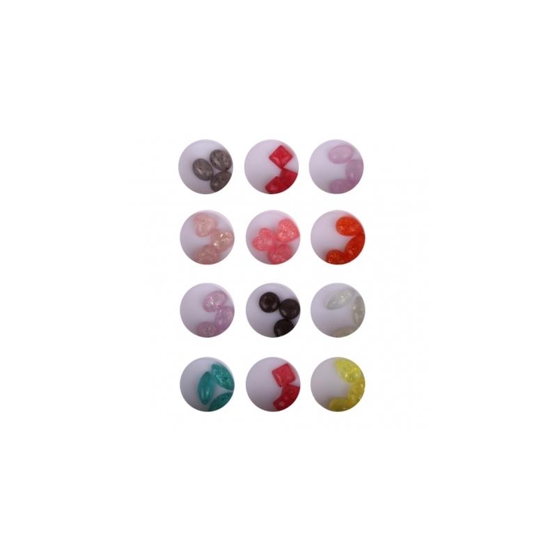Decor Unghii Lila Rossa Color Mixt