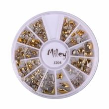 Decor Pentru Unghii Miley 12 Pozitii Auriu