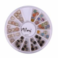 Decor Pentru Unghii Miley 12 Pozitii Mix Buline