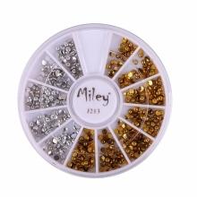 Decor Pentru Unghii Miley 12 Pozitii Metalic Auriu