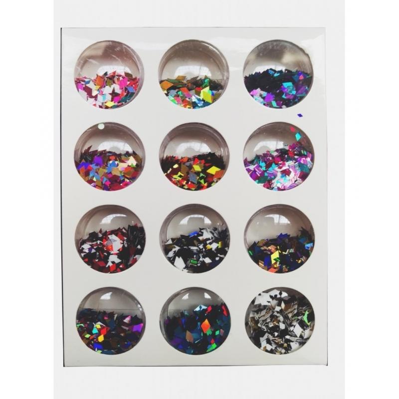 Confetii Unghii Romb 12buc J1208