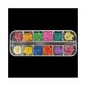 Flori Uscate Unghii Set 12 (Ambalaj Plastic)