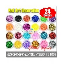 Decor Unghii Set24 Sclipici Hexagon 21003
