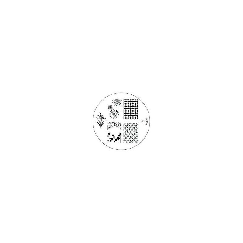 Matrita Metalica Pentru Stampile Unghii Konad M99