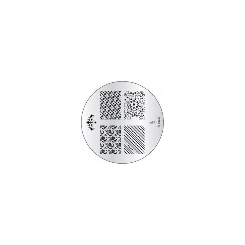 Matrita Metalica Pentru Stampile Unghii Konad M97