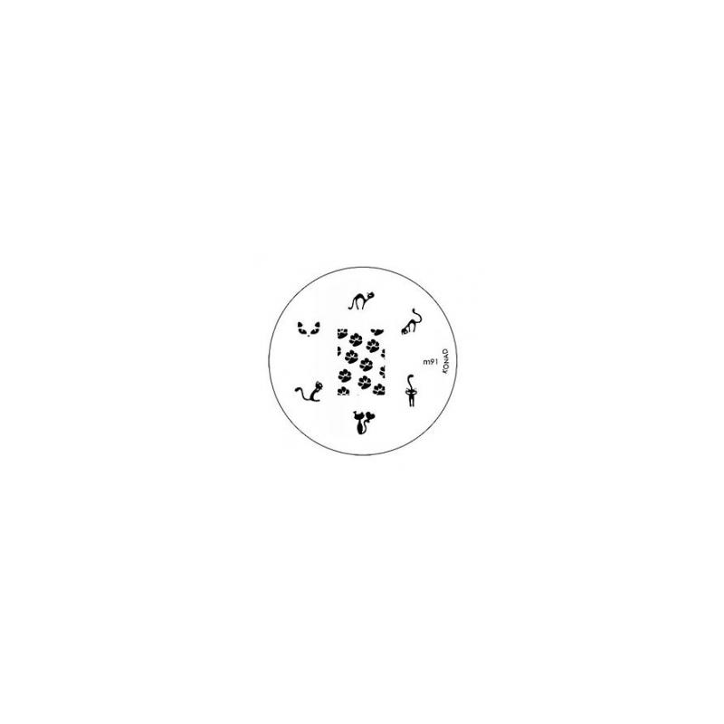 Matrita Metalica Pentru Stampile Unghii Konad M91