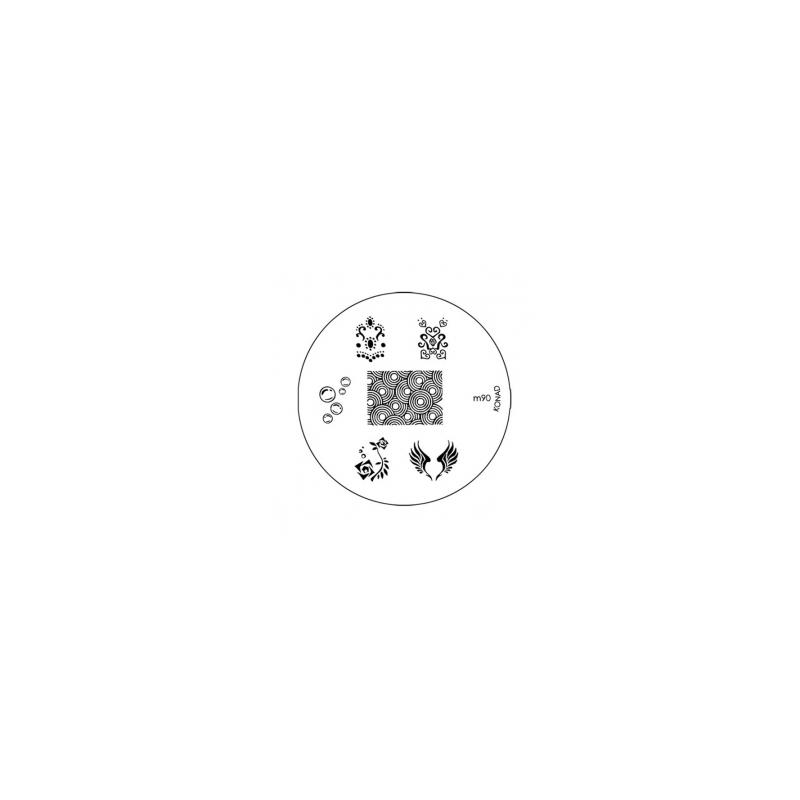 Matrita Metalica Pentru Stampile Unghii Konad M90