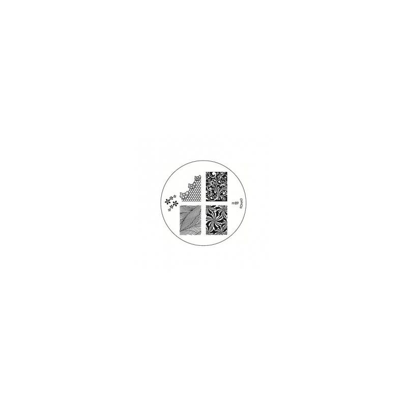 Matrita Metalica Pentru Stampile Unghii Konad M89