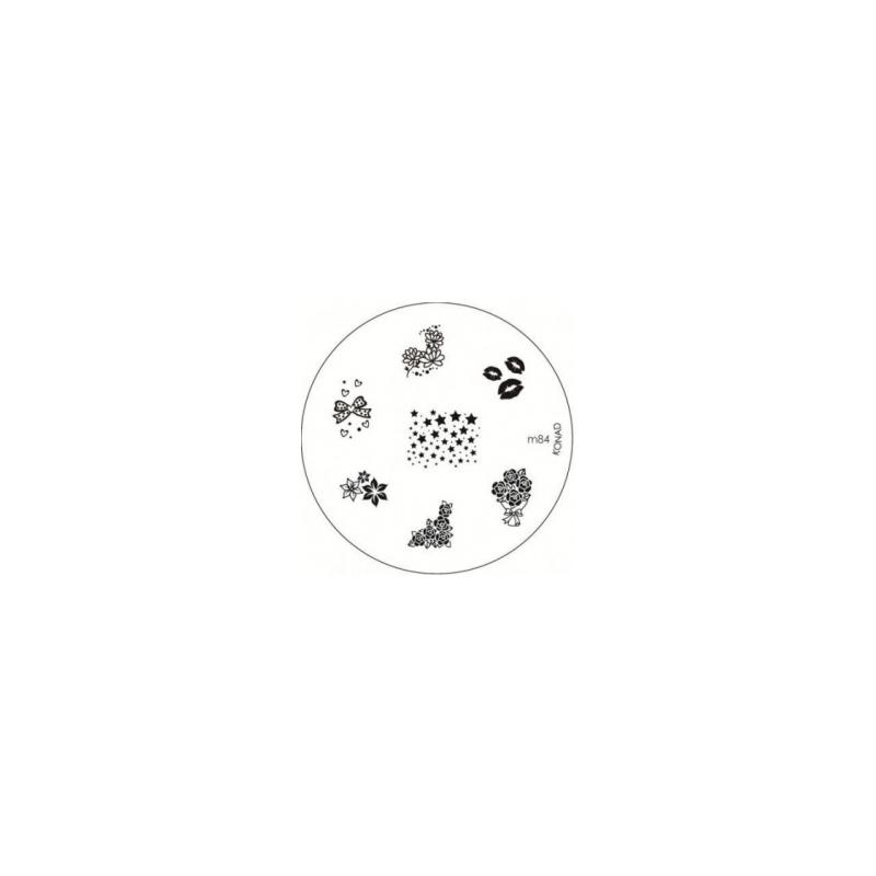 Matrita Metalica Pentru Stampile Unghii Konad M84