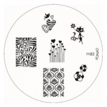 Matrita Metalica Pentru Stampile Unghii Konad M83