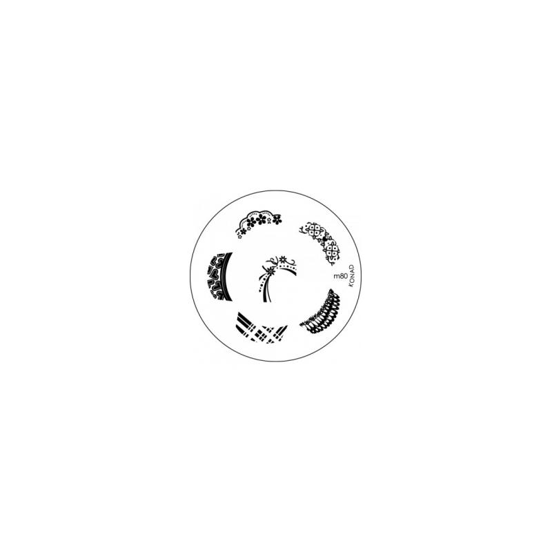 Matrita Metalica Pentru Stampile Unghii Konad M80