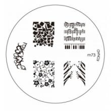 Matrita Metalica Pentru Stampile Unghii Konad M73