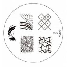 Matrita Metalica Pentru Stampile Unghii Konad M72