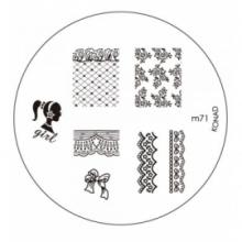 Matrita Metalica Pentru Stampile Unghii Konad M71